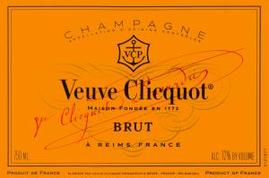 Ah, le Champagne Veuve Clicquot....