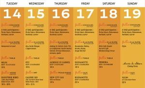 le calendrier de votre semaine prochaine..
