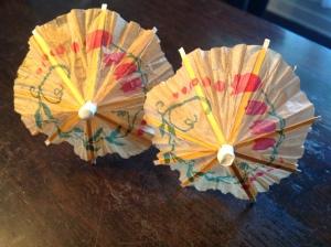 les fameux parasols...