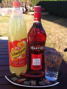 Martini Rosato et Schweppes Agrumes...