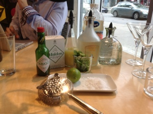 Tout est prêt pour confectionner la Margarita Chica ! Shake, Shake, Shake ...