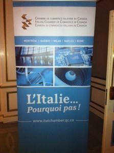 Soirée de la Chambre du Commerce Italienne au Canada.....