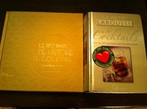 Le Ritz Paris une Histoire de Cocktails et le Petit Larousse des Coktails....