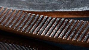 L'intérieur du fût en bois...