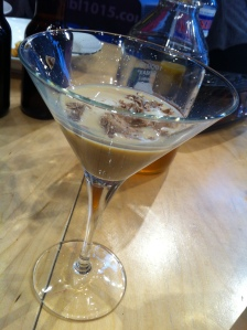 Ce qui reste de mon cocktail, après la dégustation...