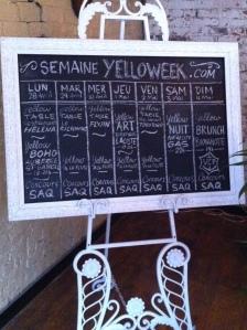 le calendrier de la Yellow Table...