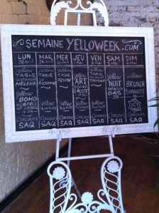 le calendrier de la Yellow Table...