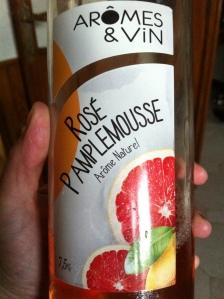 la bouteille de Rosé Pamplemousse !