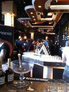Le vue sur le bar du Pandore...