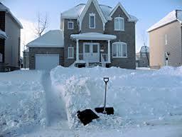 Ah.... la neige et les joies de l'hiver.....