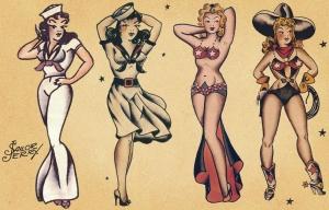 Voici quelques tatoos de Sailor Jerry....